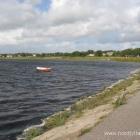 Pause an der Aggersund-Brücke