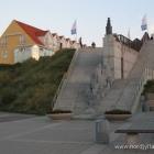 Treppe zum Hirtshals Hafen