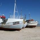 Fischerboote am Strand von Løkken