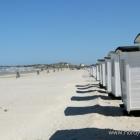 Badehäuschen am Strand von Løkken