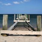Steg am Strand