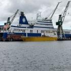 Die Tor Petunia in der Orskov Werft in Frederikshavn