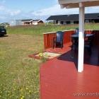 """Die """"große"""" Terrasse mit integriertem Sandkasten ;)"""