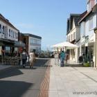 der bereits umgebaute Teil der Fussgängerzone in Hirtshals