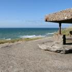 Aussicht auf die Nordsee aus einem alten Bunker