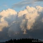 beeindruckende Wolkenwand