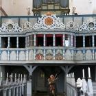 Orgel und Dudelsackspieler
