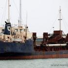 alter Bagger im Hafen von Hirtshals