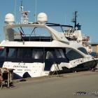 Yacht im Hafen von Hirtshals