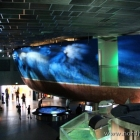 Nachbau eines Fischerbootes im Eingangsbereich