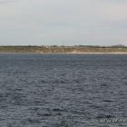 die dänische Küste ist in Sichtweite