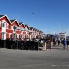 Fischrestaurants am Hafen von Skagen