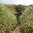 Eingang eines Bunkers