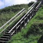 Treppe zum Hafen