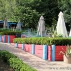 Sitzplätze im Zoo