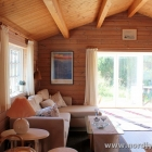 Ferienhaus Sofa und Anbau