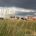 Dünen und Häuser