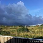 Regenwolken über Tornby