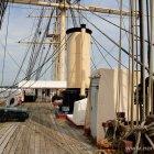 An Deck der Fregatte Jylland